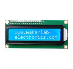 16x2 LCD Display I2C White on Blue