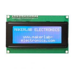 20x4 lcd display i2c white on blue