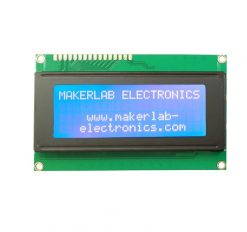 20x4 lcd display white on blue