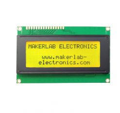 20x4 lcd display black green