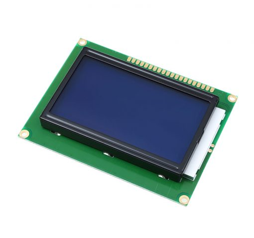 128x64 LCD Display White on Blue